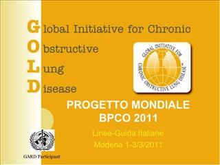 PROGETTO MONDIALE BPCO 2011