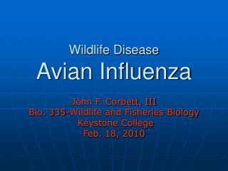 Wildlife Disease Avian Influenza