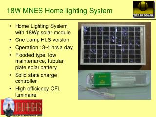 18W MNES Home lighting System
