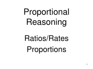 Proportional Reasoning