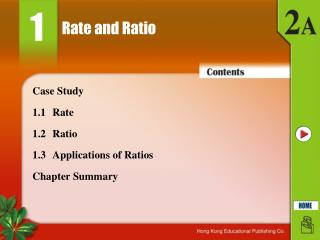 Rate and Ratio