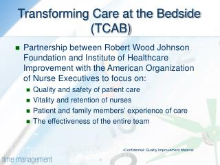 Transforming Care at the Bedside  TCAB