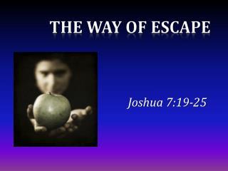 Joshua 7:19-25