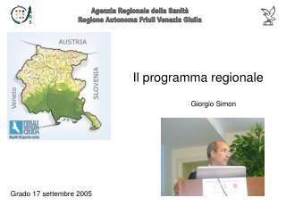 Il programma regionale