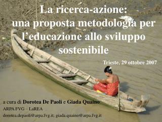 La ricerca-azione: una proposta metodologia per l'educazione allo sviluppo sostenibile