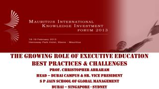 The Growing Role of Executive Education Best Practices & Challenges