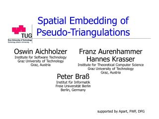Spatial Embedding of  Pseudo-Triangulations