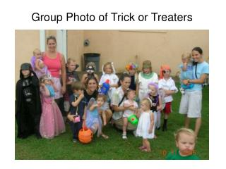 Group Photo of Trick or Treaters