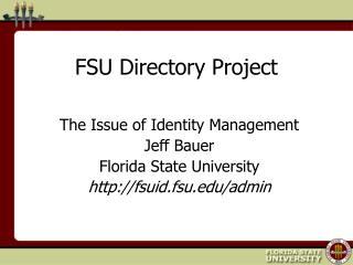 FSU Directory Project