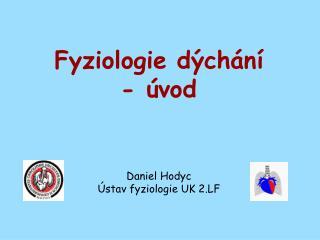Fyziologie dýchání - úvod