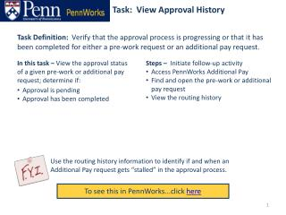 Task:  View Approval History
