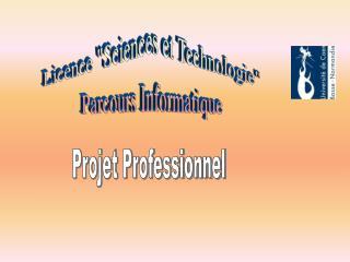 Licence Sciences et Technologie Parcours Informatique