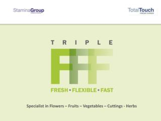 Specialist in Flowers – Fruits – Vegetables – Cuttings - Herbs