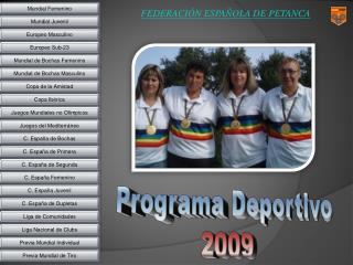 Programa Deportivo 2009