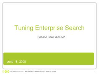 Tuning Enterprise Search