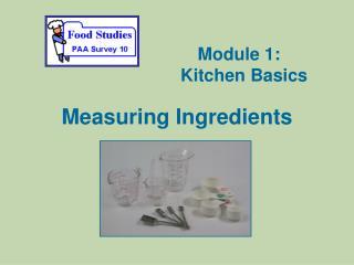 Measuring Ingredients