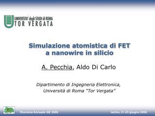 Simulazione atomistica di FET a nanowire in silicio
