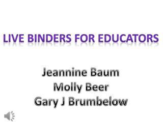 Live Binders For Educators