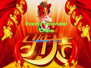 Events Calendar  China