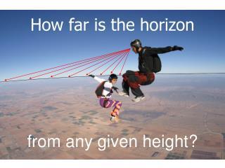 How far is the horizon