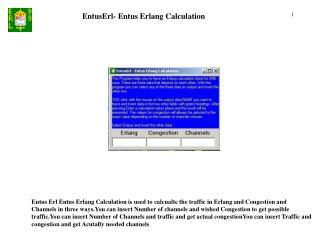 EntusErl- Entus Erlang Calculation