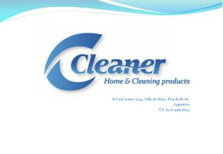 Home &  Cleaning products Av.Gral  Lemos 3243, Villa de Mayo,  Pcia  de  Bs.As . Argentina