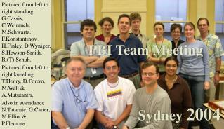 PBI Team Meeting  Sydney  2004