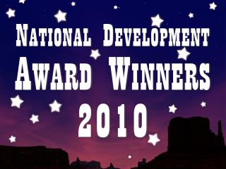National Development  Award Winners 2010