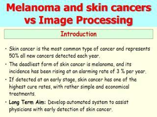 Melanoma and skin cancers vs Image Processing