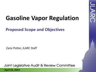 Gasoline Vapor Regulation