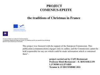 PROJECT      COMENIUS-EPEITE  the traditions of Christmas in France