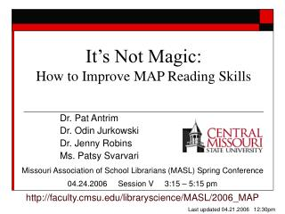 It s Not Magic: How to Improve MAP Reading Skills