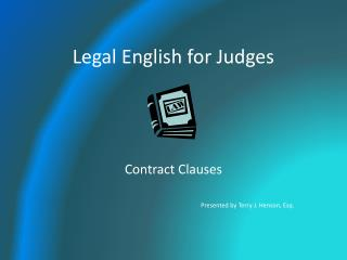 Legal English for Judges