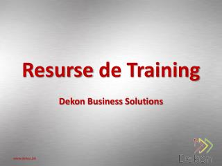 Resurse  de Training