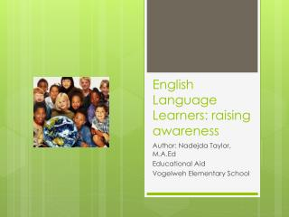 English Language Learners: raising awareness