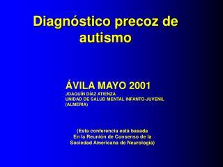 Diagnóstico precoz de autismo