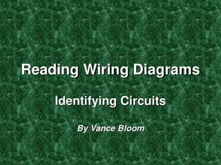 Reading Wiring Diagrams