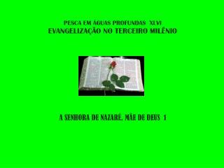 PESCA EM ÁGUAS PROFUNDAS  XLVI EVANGELIZAÇÃO NO TERCEIRO MILÊNIO