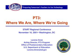 PT3:   Where We Are, Where We're Going START Regional Conference
