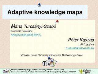 Adaptive knowledge maps