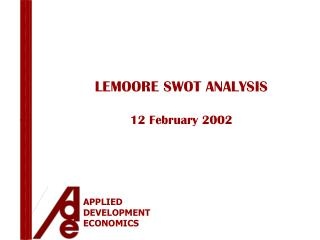 LEMOORE SWOT ANALYSIS 12 February 2002