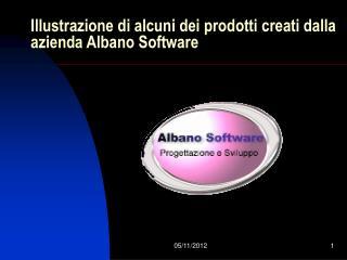 Illustrazione di alcuni dei prodotti creati dalla azienda Albano Software