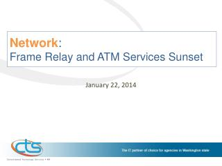 Network :  Frame Relay and ATM Services Sunset
