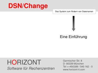 Das System zum Ändern von Dateinamen