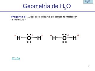 Geometría de H 2 O