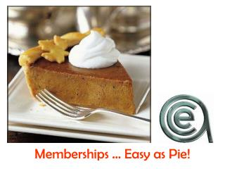 Memberships … Easy as Pie!