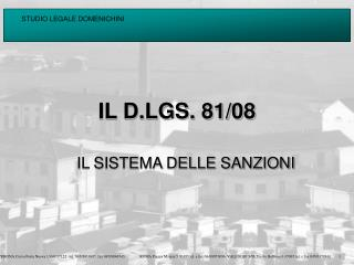 IL D.LGS. 81/08