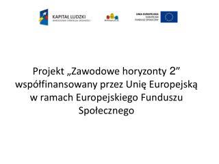 """Cele projektu """"Zawodowe horyzonty  2 """" realizowane w Zespole Szkół Ekonomiczno – Administracyjnych"""