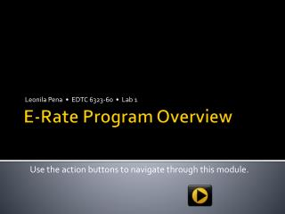 E-Rate Program Overview