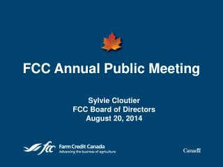 FCC Annual Public Meeting